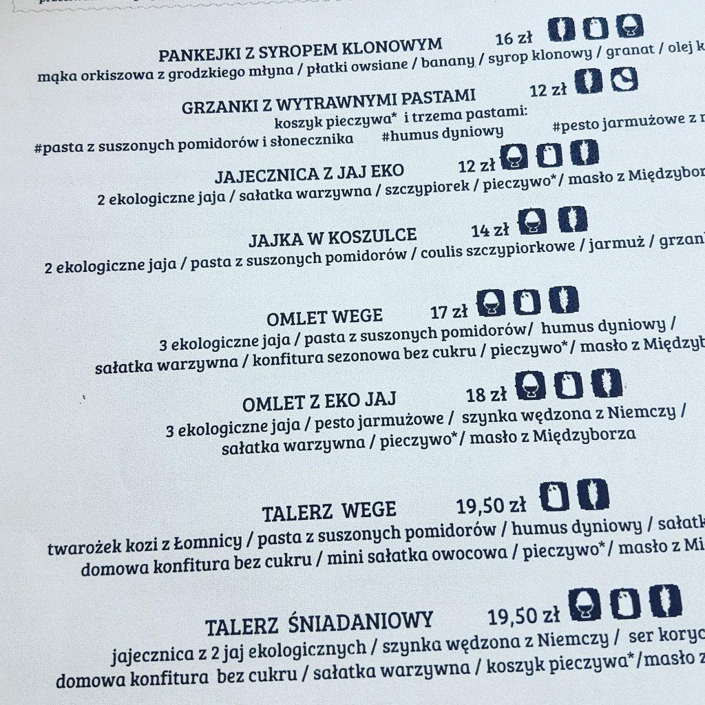 pochlebna menu